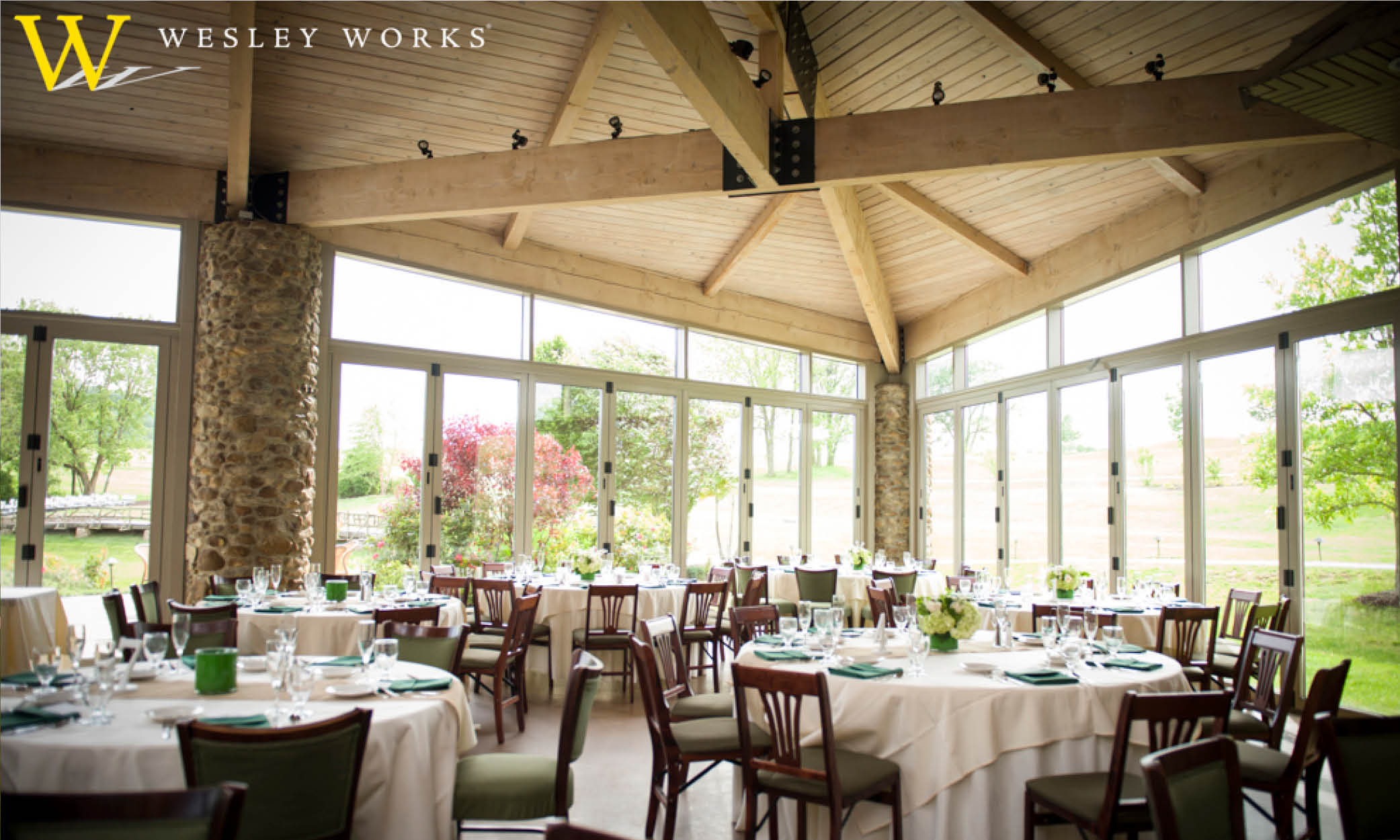 Lehigh valley wedding and reception sites wesley works for Wedding venue with a view
