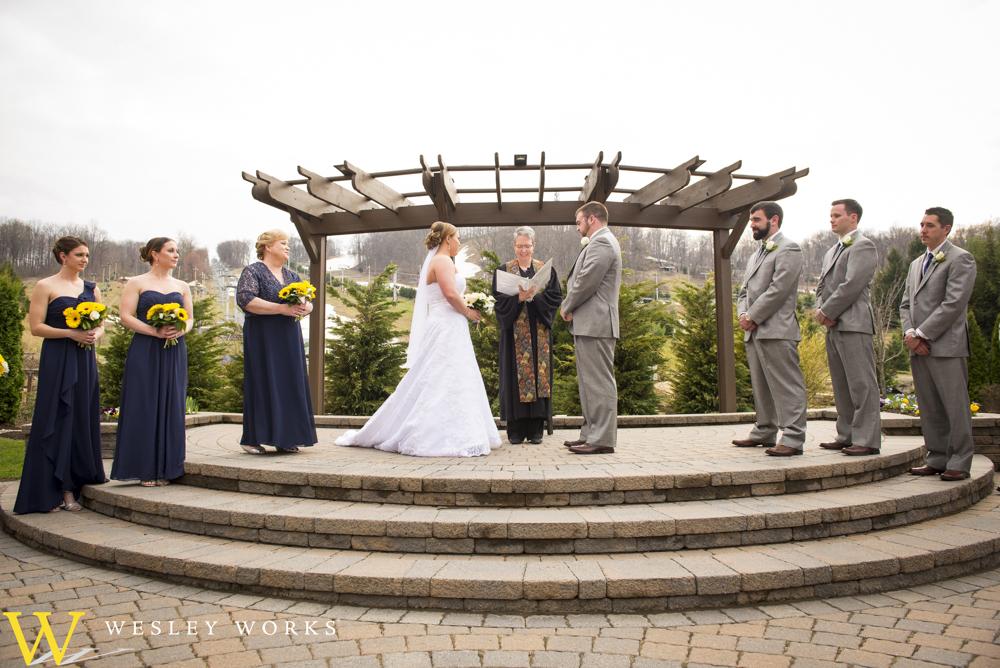 outdoor wedding reception sites